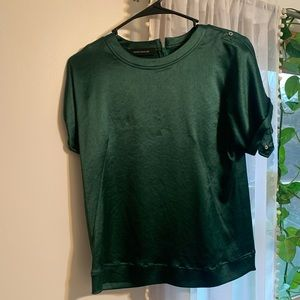 Cedric Charlier Emerald Green Blouse